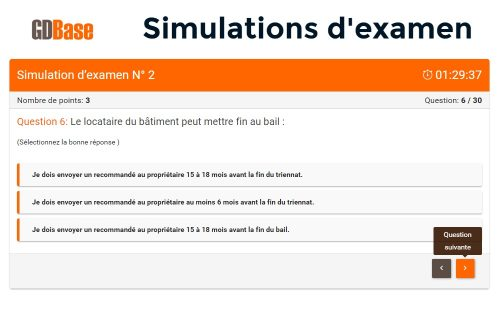 Simulations d'examen